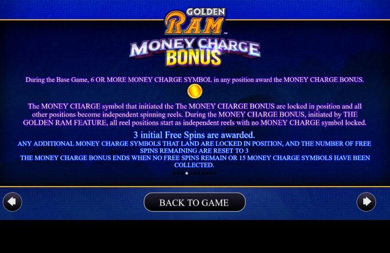 Golden Ram :: Money Charge Bonus