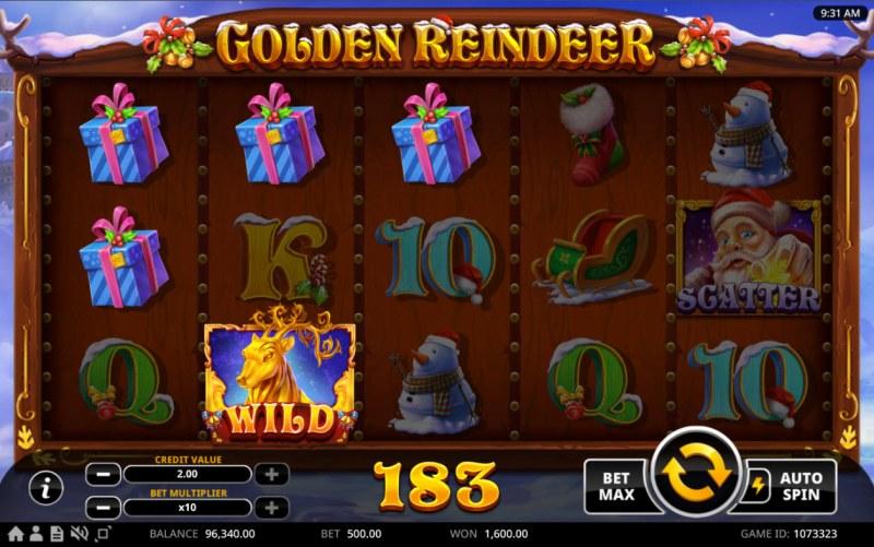 Golden Reindeer :: Multiple winning combinations