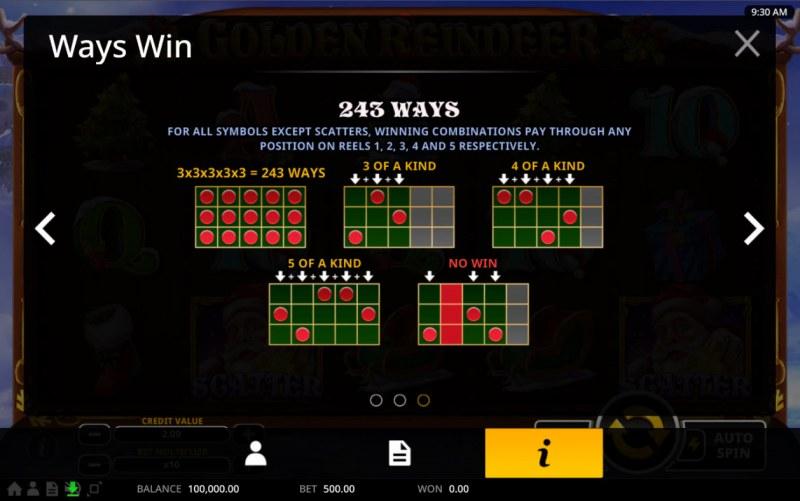Golden Reindeer :: 243 Ways to Win