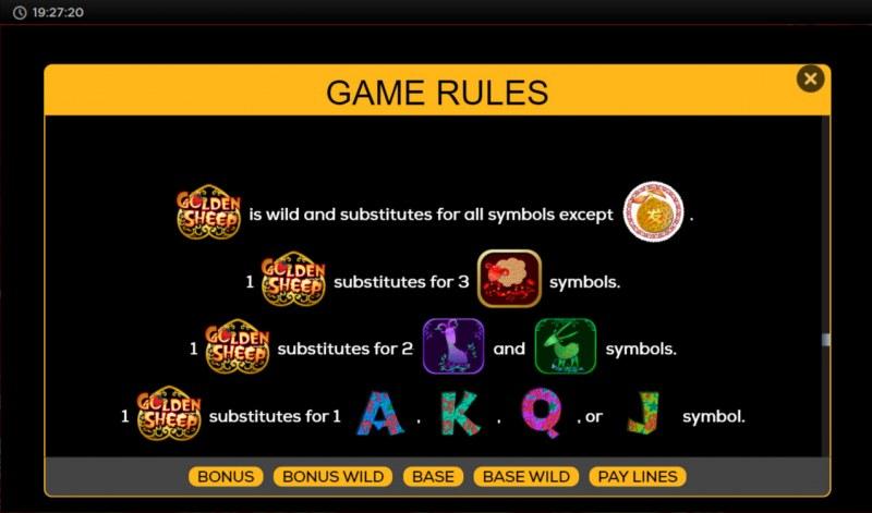 Golden Sheep :: Wild Symbol Rules
