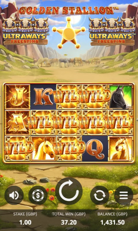 Golden Stallion Ultraways :: Multiple winning combinations lead to a big win