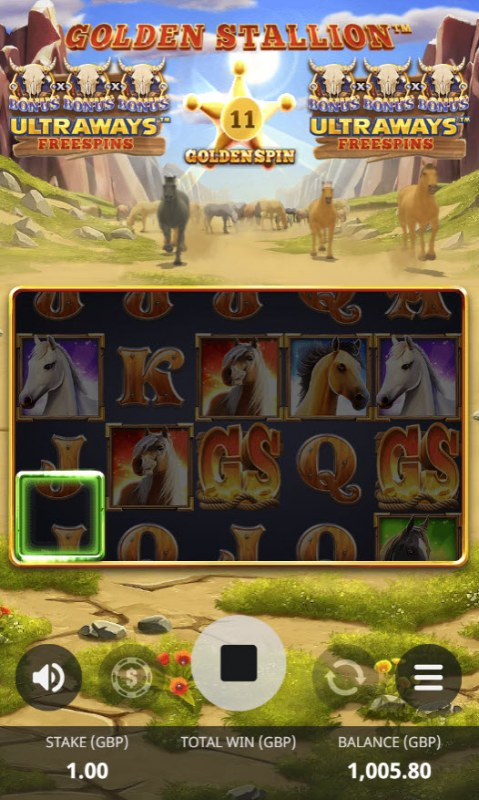Golden Stallion Ultraways :: 11 spins to add highlighted reel positions