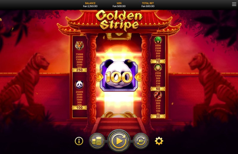 Golden Stripe :: A 100 coin jackpot win