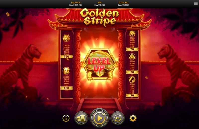 Golden Stripe :: Level-Up when you land a gold symbol