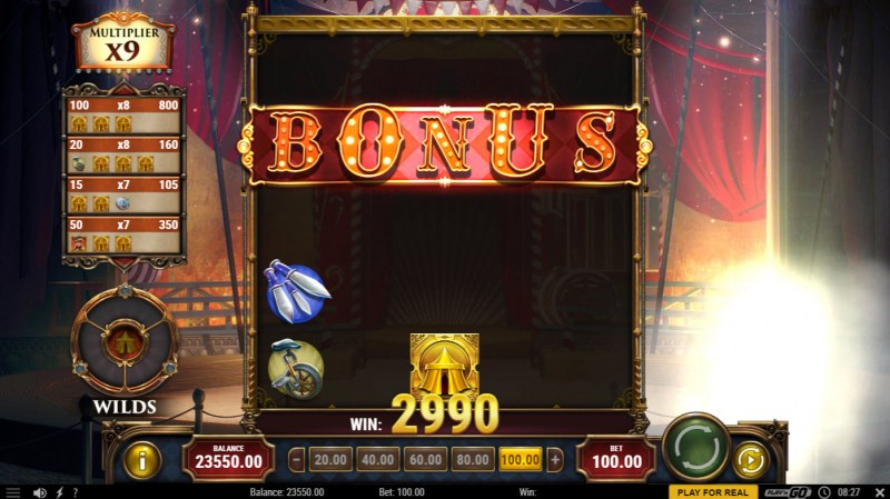 Golden Ticket 2 :: Clearing the BONUS row awards the Free Spins feature