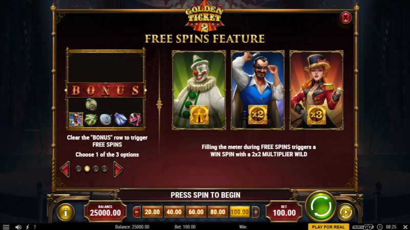 Golden Ticket 2 :: Free Spin Feature Rules