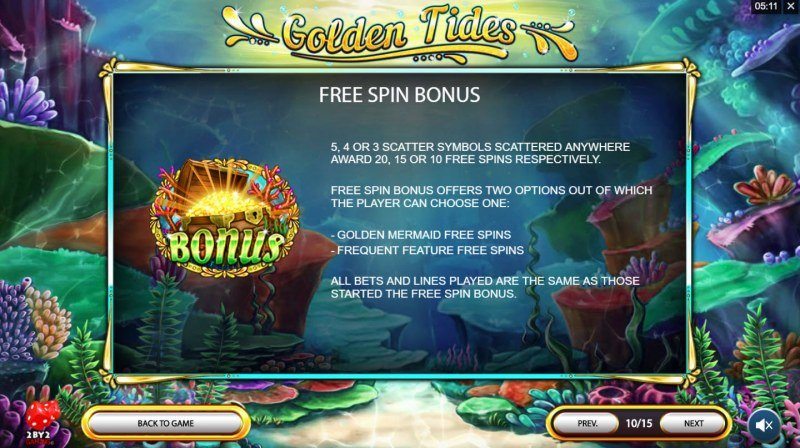 Golden Tides :: Free Spins Rules