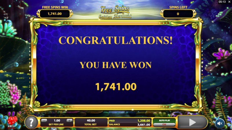 Golden Tides :: Total free spins payout