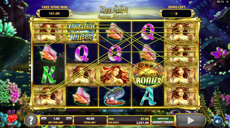 Golden Tides :: Free Spins Game Board