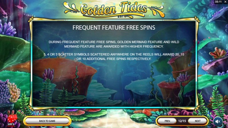 Golden Tides :: Frequent Feature Free Spins