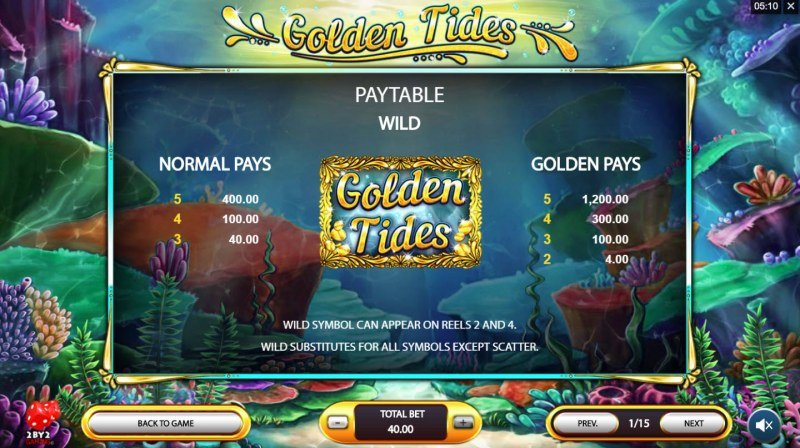 Golden Tides :: Wild Symbols Rules