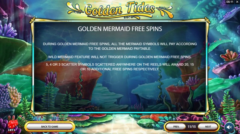 Golden Tides :: Golden Mermaid Free Spins