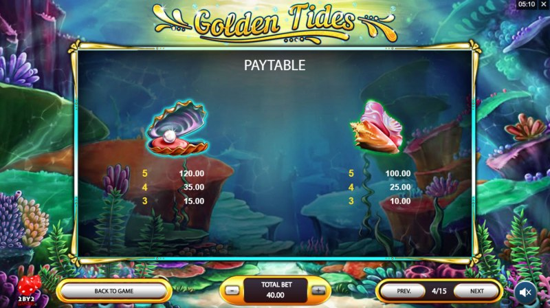 Golden Tides :: Paytable - Medium Value Symbols