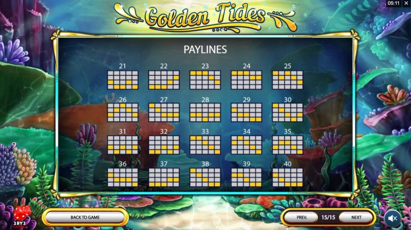 Golden Tides :: Paylines 21-40