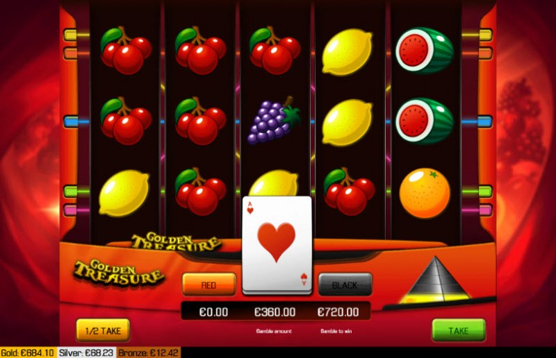 Golden Treasure :: Red or Black Gamble Feature