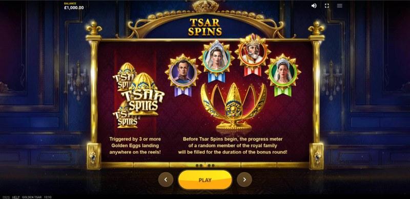 Golden Tsar :: Scatter Symbol Rules