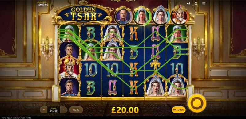 Golden Tsar :: Multiple winning paylines