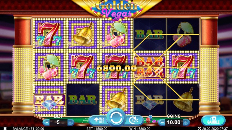 Golden Vegas :: Multiple winning combinations leads to a big win