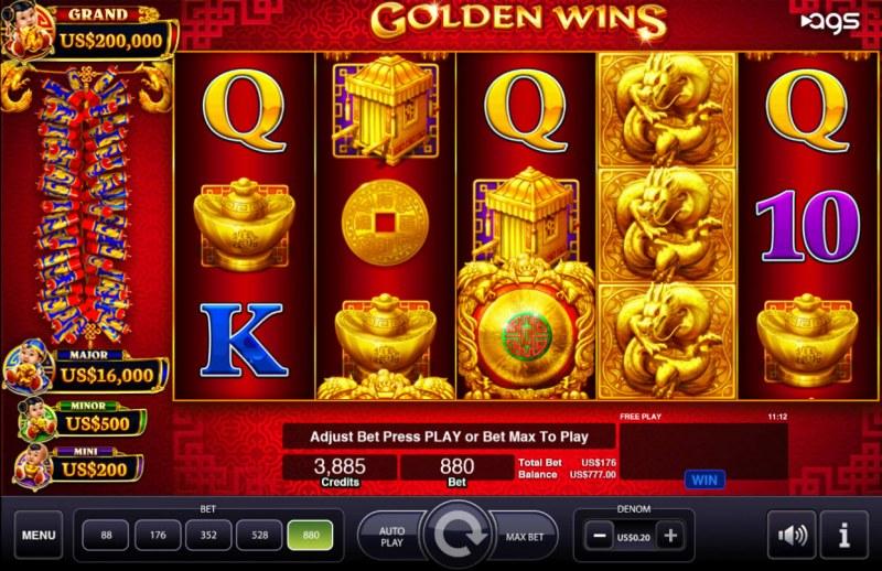 Golden Wins :: Main Game Board