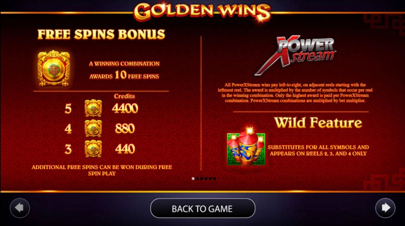 Golden Wins :: Free Spins Rules