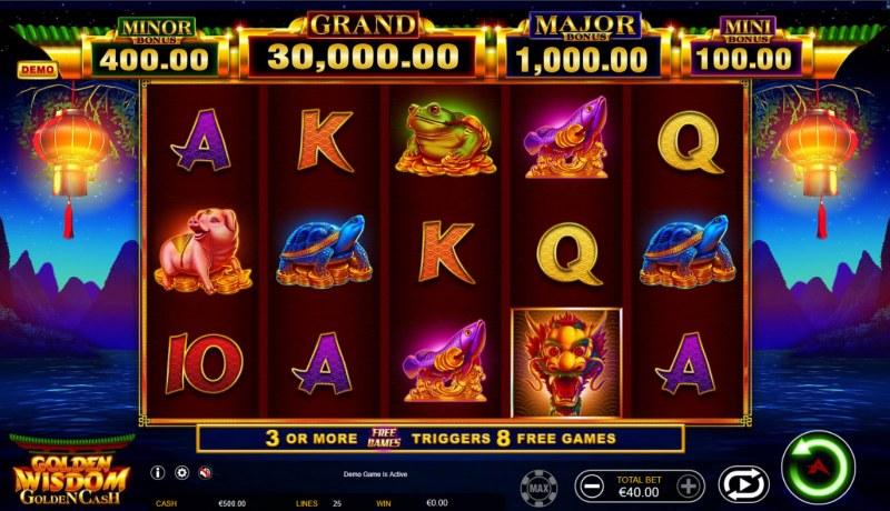 Golden Wisdom Golden Cash :: Main Game Board