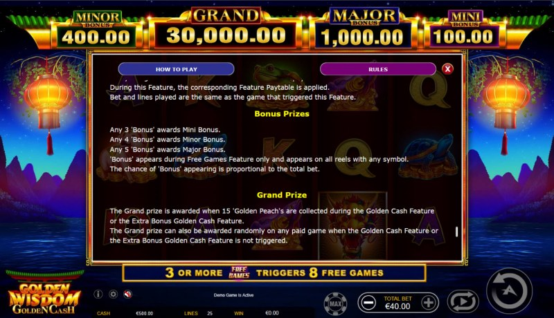 Golden Wisdom Golden Cash :: Prizes