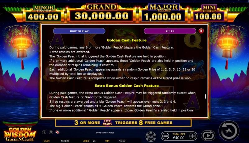 Golden Wisdom Golden Cash :: Golden Cash Feature