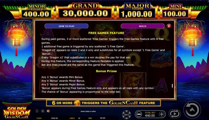 Golden Wisdom Golden Cash :: Free Game Rules