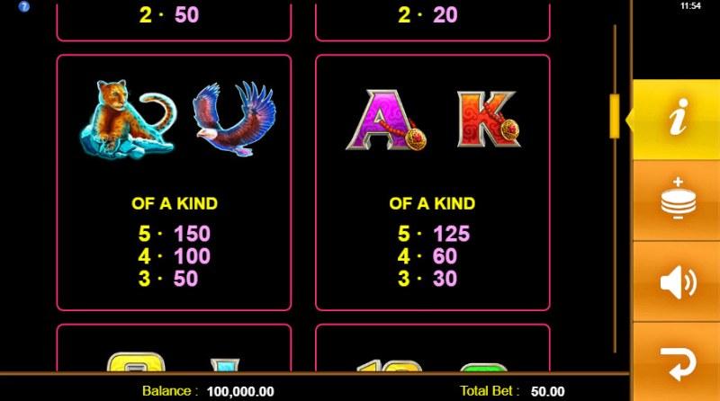 Golden Yak :: Paytable - Medium Value Symbols