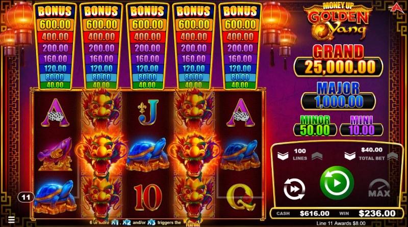 Golden Yang :: Multiple winning paylines