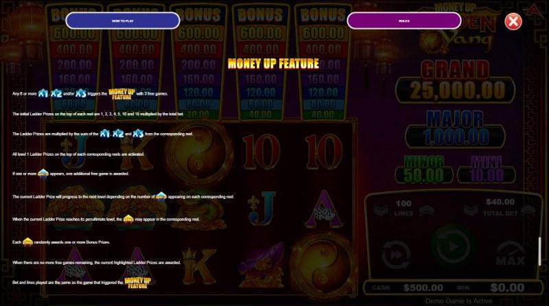 Golden Yang :: Money Up Feature
