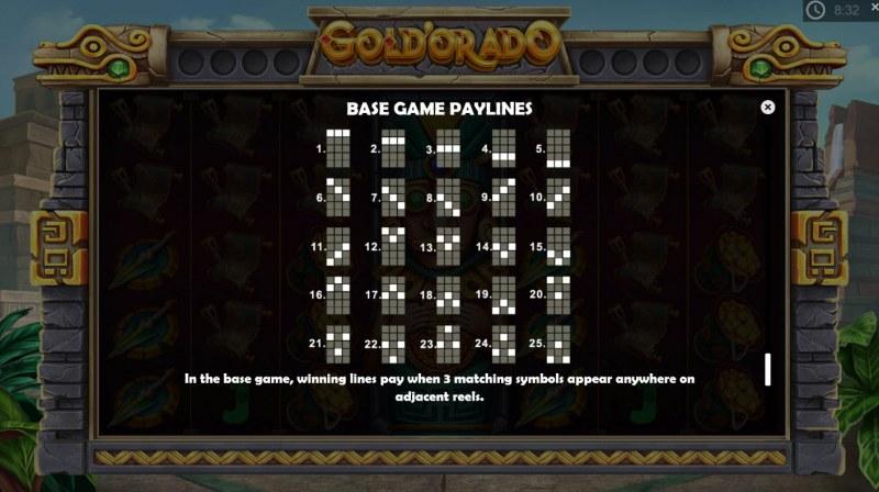 Gold'orado :: Paylines 1-25
