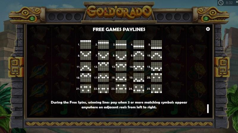 Gold'orado :: Free Games Paylines