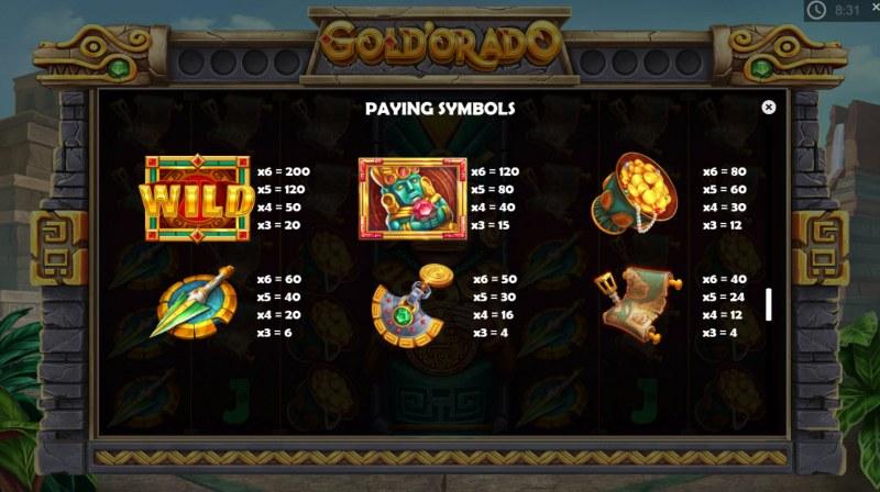 Gold'orado :: Paytable - High Value Symbols