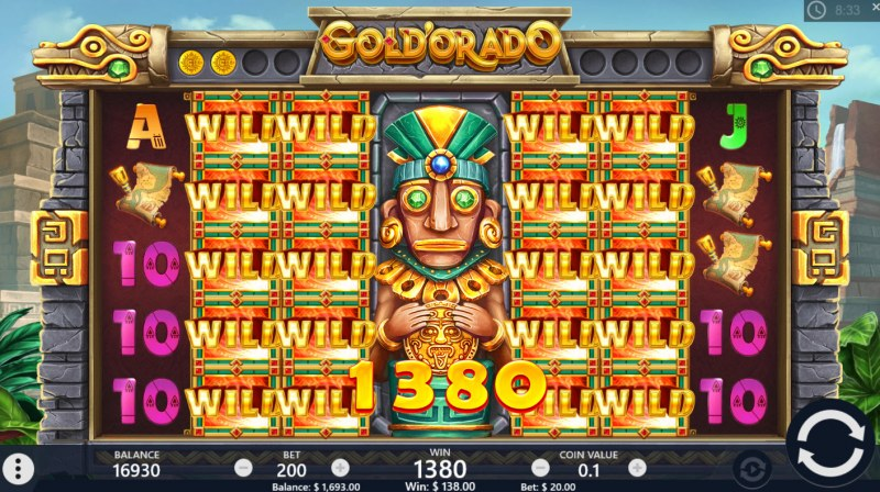 Gold'orado :: Stacked wilds trigger multiple winning paylines