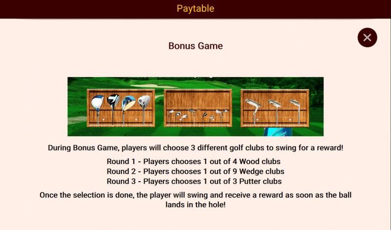 Golf Champions :: Bonus Game Rules