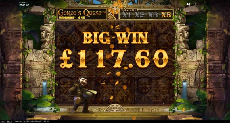 Gonzo's Quest Megaways :: Big Win