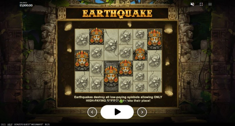 Gonzo's Quest Megaways :: Earthquake