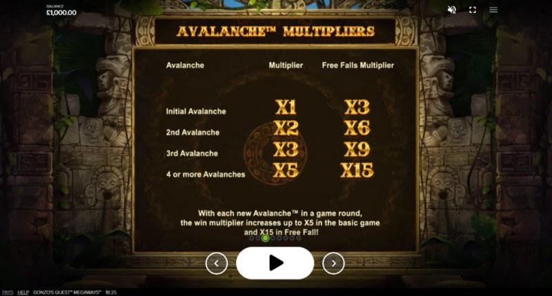 Gonzo's Quest Megaways :: Avalanche Multiplier