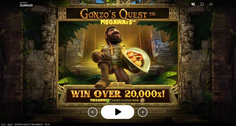 Gonzo's Quest Megaways :: Win Over 20,000x