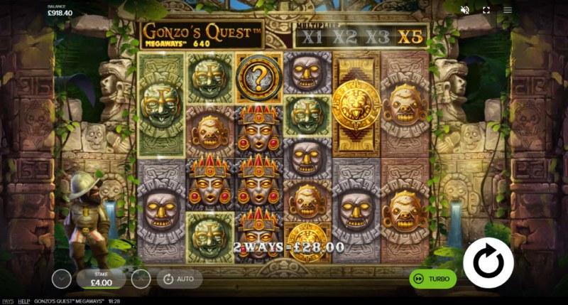 Gonzo's Quest Megaways :: X5 multiplier awarded