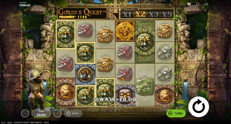 Gonzo's Quest Megaways :: Multiple winning combinations