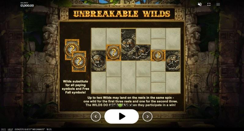 Gonzo's Quest Megaways :: Unbreakable Wilds