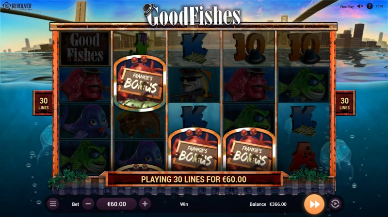 Good Fishes :: Scatter symbols triggers bonus feature