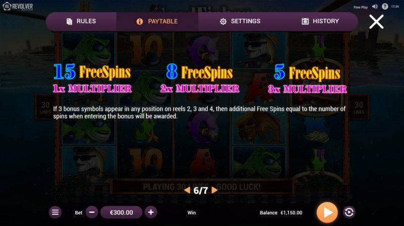 Good Fishes :: Free Spins Rules