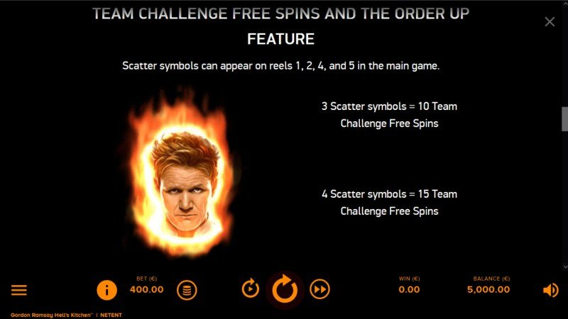 Gordon Ramsay Hell's Kitchen :: Free Spin Feature Rules