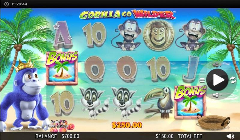 Gorilla Go Wilder :: Scatter Win