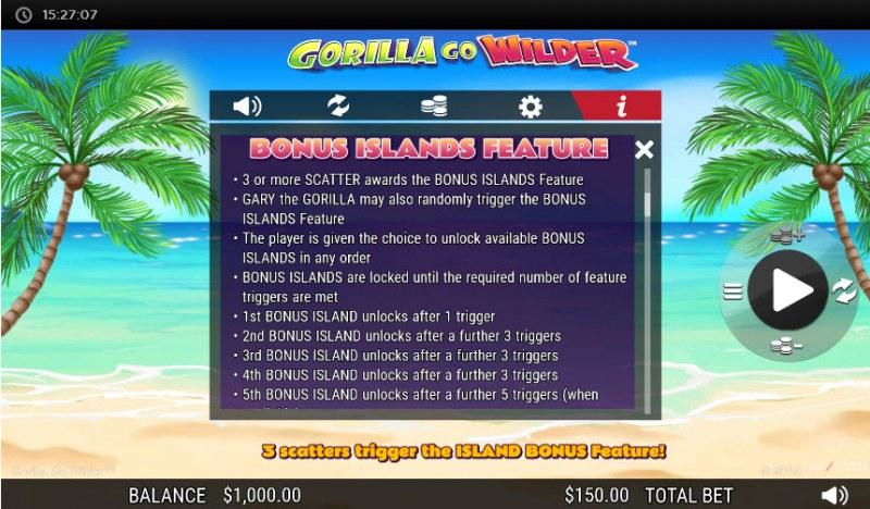 Gorilla Go Wilder :: Bonus Island Feature