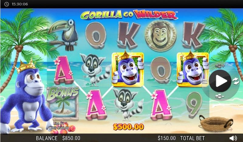 Gorilla Go Wilder :: A five of a kind win