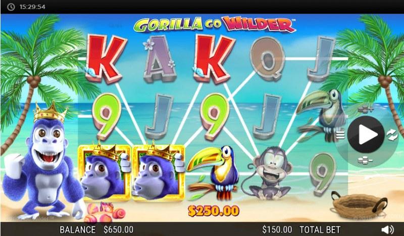 Gorilla Go Wilder :: Multiple winning paylines